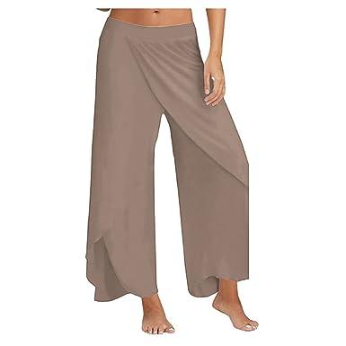 Hzjundasi Pantalones Anchos Largos Deportivos Cintura ...