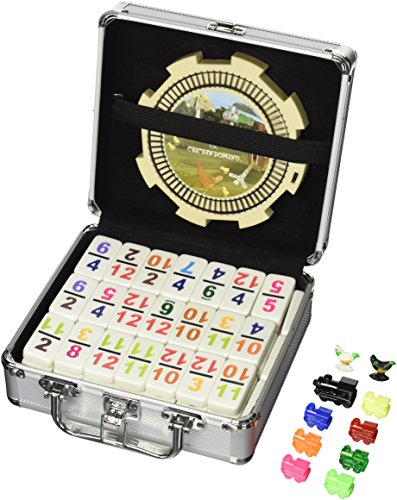 Double 12 Numeral Pro Size Mexican Train & Chicken Domino Set