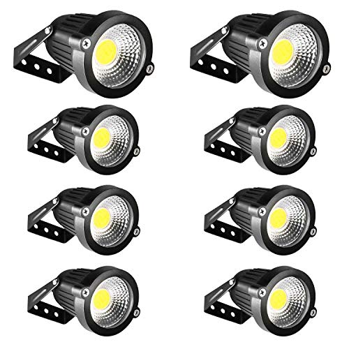(LED Landscape Lights INNERWILL Landscape Lighting 5W 12V-24V Outdoor Flood Security Lights Daylight Spotlights Waterproof Pathway Lights Low Voltage Lighting for Wall, Yard, Garage, Garden (8 Pack) )