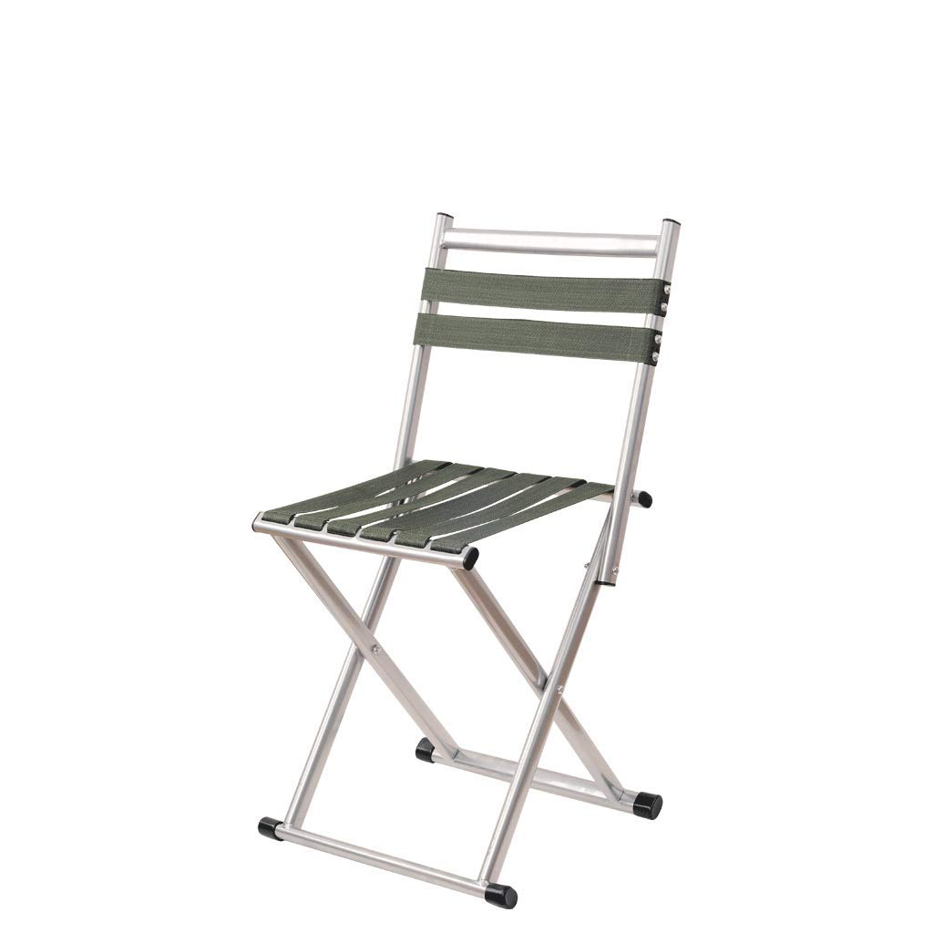 Large Folding chair Portable Folding Camping Stool,Metal, Thick, Folding, Portable Outdoor, Fishing, Climbing, Wild, Height 34.5,40cm Rollsnownow (Size   L)