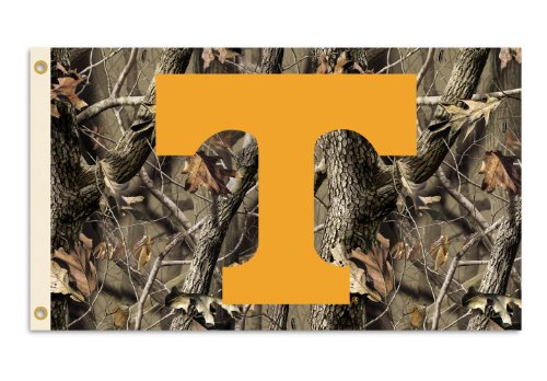 NCAA Tennessee Volunteers 3-by-5 Foot Flag with Grommets - Realtree Camo (Tennessee Volunteers Camo)