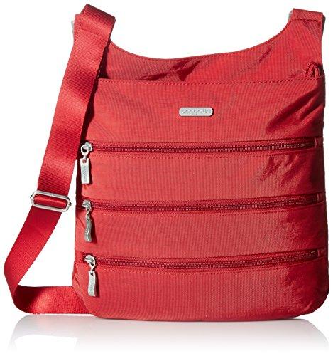 Baggallini Big Zipper Travel Crossbody Bag, Apple, One Size