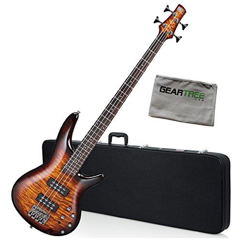 - Ibanez SR400EQMDEB SR Standard Bass Guitar Dragon Eye Burst w/Hard Case and Gea