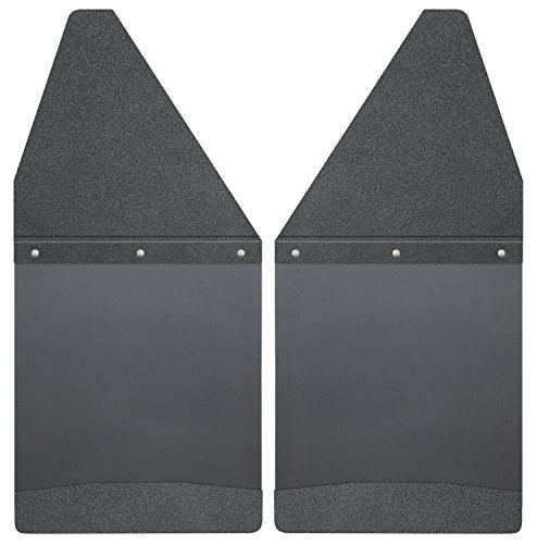 Husky Liners Front/Rear Custom Fit Kick Back Mud Flap (Black) (12
