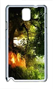 slim covers forest path bridge PC White case/cover for Samsung Galaxy Note 3 N9000
