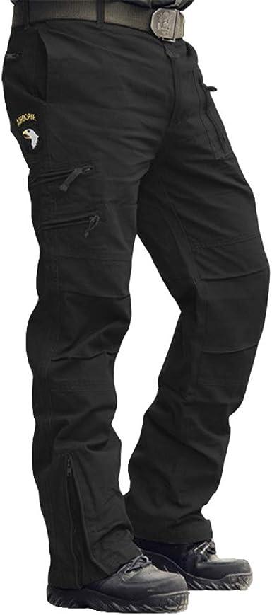 Amazon Com Menargo Pantalones Tacticos Para Hombre Con Multiples Bolsillos Straight 28w X 28l Clothing