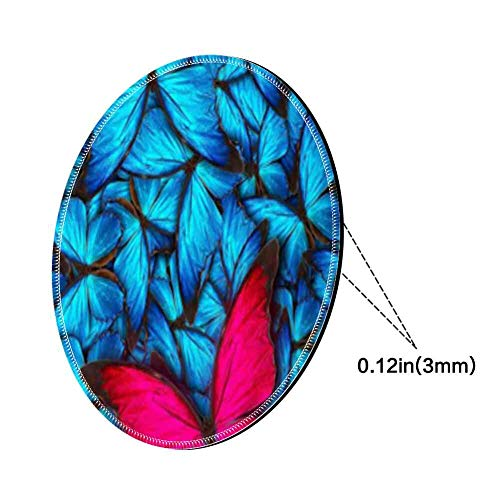 Mouse Pad Round Mouse Pad Butterfly Wallpaper 360 Protective 220mm3mm ()
