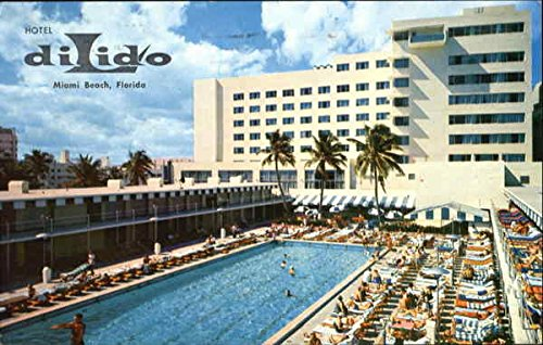 Hotel Di Lido, Directly on the Ocean at Lincoln Road Mall Miami Beach, Florida Original Vintage - Mall Ocean