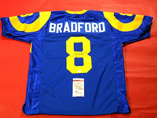 (Sam Bradford Autographed Signed St. Louis Rams Throwback Jersey JSA - Certified Authentic)