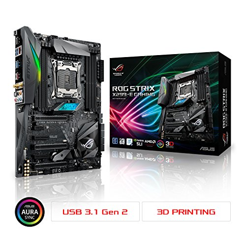 ASUS ROG STRIX X299-E GAMING LGA2066 DDR4 M.2 USB 3.1 802.11AC WIFI X299 ATX Motherboard for Intel Core X-Series - Series Asus X