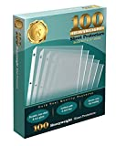 100 Clear Heavyweight Poly Sheet Protectors by Gold Seal, 8.5'' x 11''