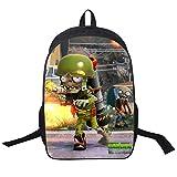 YOURNELO Kid's Cartoon Plants Vs Zombies Printed Backpack Student's Schoolbag Bookbag(8)