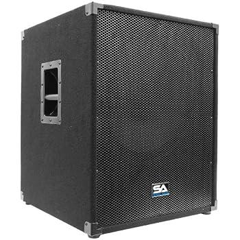 """Seismic Audio - 18"""" PA Subwoofer PRO Audio Band Speaker Cabinet Sub - Band, Bar, Wedding, Karaoke, DJ, 18 Inch Cab"""