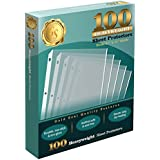 "100 Clear Heavyweight Poly Sheet Protectors by Gold Seal, 8.5"" x 11"""