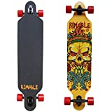 RIMABLE Drop-Through Longboard 41Inch (Yellow Skull)