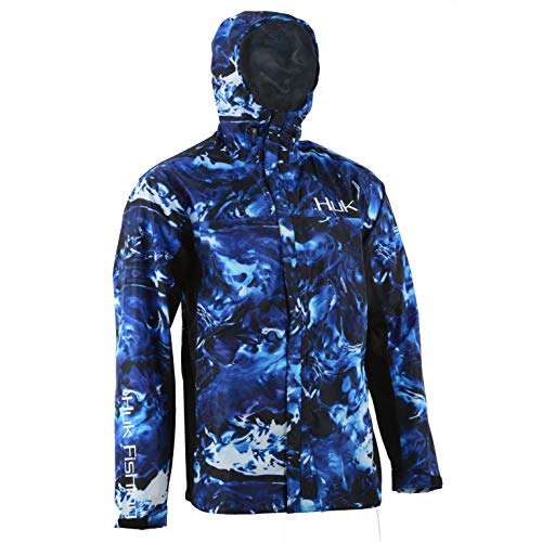 HUK CYA Camo Packable Men's Rain Jacket- Hydro Reflex, Xtra-Large