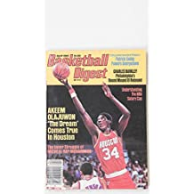 APRIL 1985 BASKETBALL DIGEST AKEEM OLAJUWON HOUSTON ROCKETS EWING