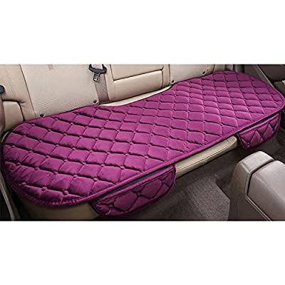 Sedeta Silk Velvet Auto Car Vehicle Long Rear Seat Chair Cover Protective Cushion Mat pad for baby, SUV, skin-friendly c: Automotive