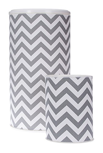 Glenna Jean Sweet Potato Hamper and West Basket, Grey Chevron by Glenna Jean