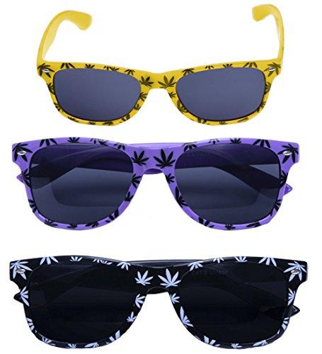 Ganja 3 Pair Ltd Set Romens Lunettes Set Weed De 3 Soleil 1 Paire 420 wFPSxCXqd