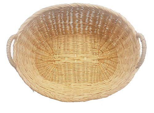 MY HOPE The Laundry Basket Rattan Oval Wicker Jumbo Size 20