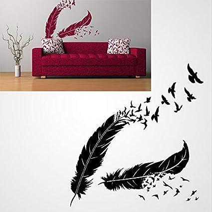 Pochoir r/éutilisable avec plumes et oiseaux A3 A4 A5 et plus grandes tailles Shabby Chic // DECO42 Pochoir en PVC r/éutilisable A5 size 148 x 210 mm 5.8 x 8.3 in