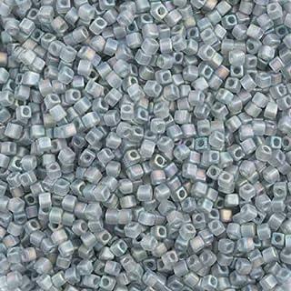 Miyuki Square/Cube Beads 1.8mm APX 20g Grey Transparent AB Matte