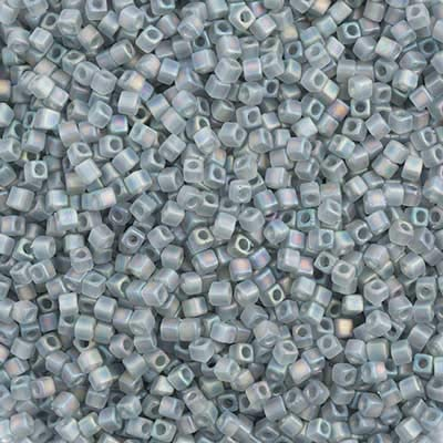 [해외]Miyuki SquareCube Beads 1.8mm APX 20g Grey Transparent AB Matte / Miyuki SquareCube Beads 1.8mm APX 20g Grey Transparent AB Matte