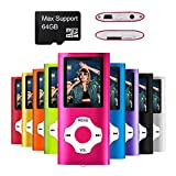 MYMAHDI - Digital, Compact and Portable MP3/MP4 Player (Max support 64 GB Micro SD Card) with Photo Viewer, E-Book Reader and Voice Recorder and FM Radio Video Movie in Pink