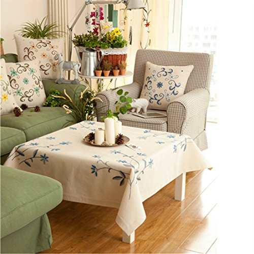 Stamped Cross Stitch Tablecloth - 9