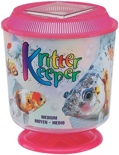 Lees Kritter Keeper Assorted Medium Round w//Lid and Pedestal