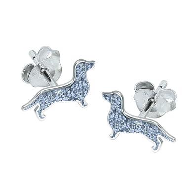 Sterling Silver Sausage Dog Earrings (Dachshund) bvdamlvG1e