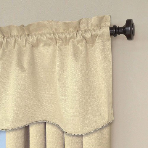 (Eclipse Canova 42-Inch by 21-Inch Thermaback Blackout Scallop Valance,)