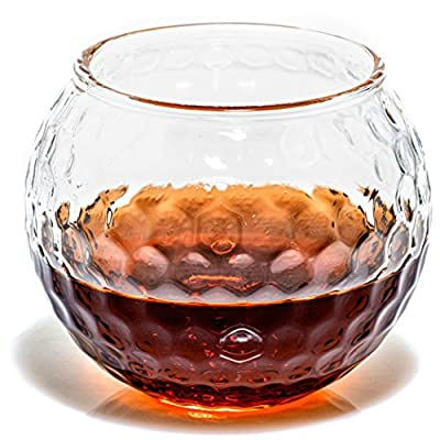 Golf Whiskey Glasses - Rocks Glass for Rum, Scotch, Wine Glasses - Bourbon Gifts - 10oz Cocktail, Lowball, Old Fashioned Glass (Set of 2) Dad Golf Gifts for Men and Women Golfers Who Like Whiskey