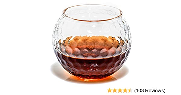 Cut Crystal 9oz Whisky Glass With Golfer Design