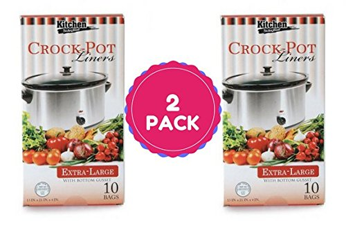 Multi-Use Large Slow Cooker – Crock Pot Liner Bags Fits 7 – 8 Quart Crock Pot 20 Ct