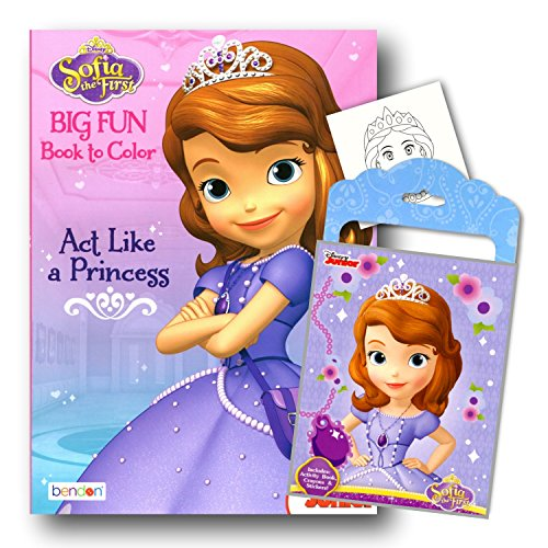 Princess Sofia the First Coloring Book Pack with Stickers, Crayons and Coloring Activity Book Bundled with 1 Separately Licensed GWW Specialty Reward Sticker]()
