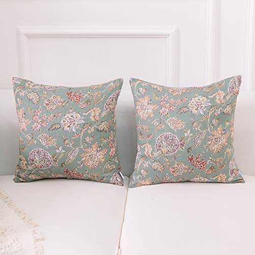 NordECO Luxury Floral Cushion Cover Vintage Style Pillowcase Decorative Throw Pillows Covers, No Pillow Insert, 18