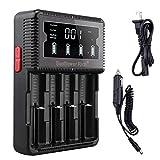 nimh car battery charger - LCD DisplaySpeedyUniversal18650BatteryChargerwithCarAdapter SmartChargerforRechargeableBatteriesNi-MHNi-CdAAAAA AAAAC,Li-ion266502265018490176701750018350 16340(RCR123) 14500