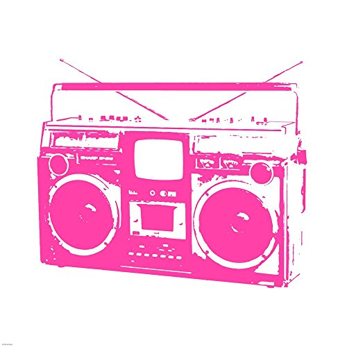 Pink Boom Box by Veruca Salt Art Print, 30 x 30 inches ()