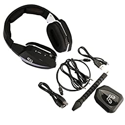 HUHD HW-398M 2.4Ghz Universal Wireless Optical Gaming Headset with Detachable Microphone - Black