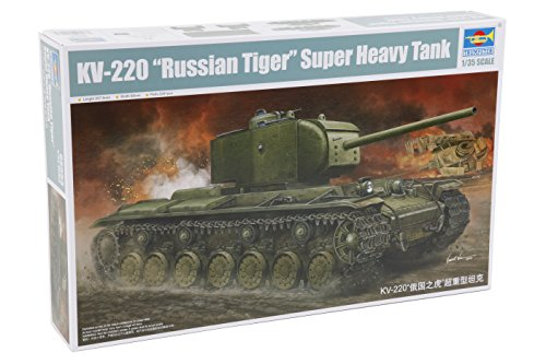 Trumpeter Kv-220 -Russian Tiger- Super Heavy Tank 1/35 Armor Model Kit ()