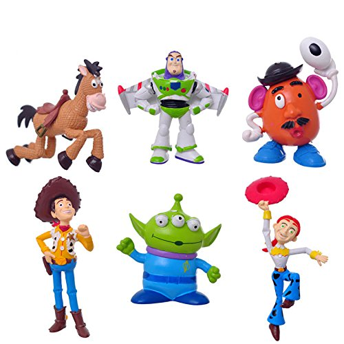 Lots 6pcs Toy Story 3 Buzz Lighter Woody Jessie Figures set, Cake Toppers 6 CM