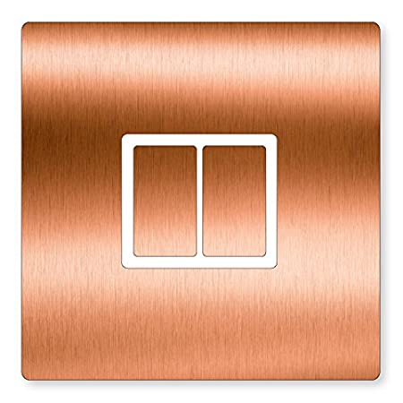 Copper Effect Vinyl Uk Light Switch Stickers Childs Bedroom Nursery - Vinyl-decals-to-decorate-light-switches-and-outlets