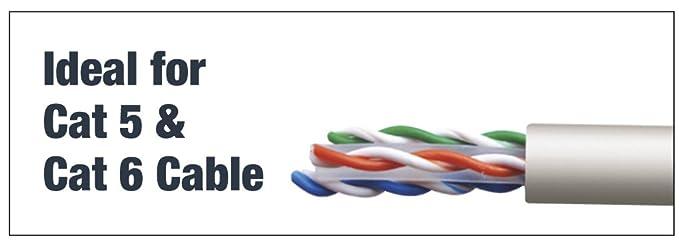 Tacwise 1153 Grapadora Combi, para Colocar Cables de 4.5 mm y de 6 mm en diámetro, Plateado