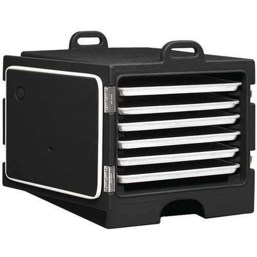 26MTC110 Black Insulated Tray / Sheet Pan Carrier - Front Load Holds Full Size Pans ()