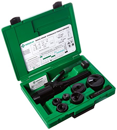Greenlee 7806-SB Quick Draw Hydraulic Punch Driver and Kit with Conduit Size Punches by Greenlee