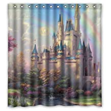 "Welcome!Waterproof Decorative Beautiful Castle Shower Curtain 66""x72""-6"