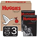 Huggies Special Delivery Hypoallergenic Baby Diapers, Size 3 (16-28 lbs.), 116 Count, ECONOMY PLUS Pack
