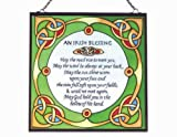 Irish Suncatcher - Irish blessing stained glass window hanging. Irish Gift designed in Galway Ireland.